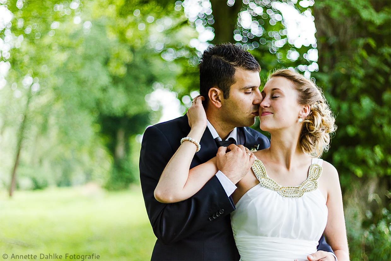 Hochzeitsshooting im Grünen