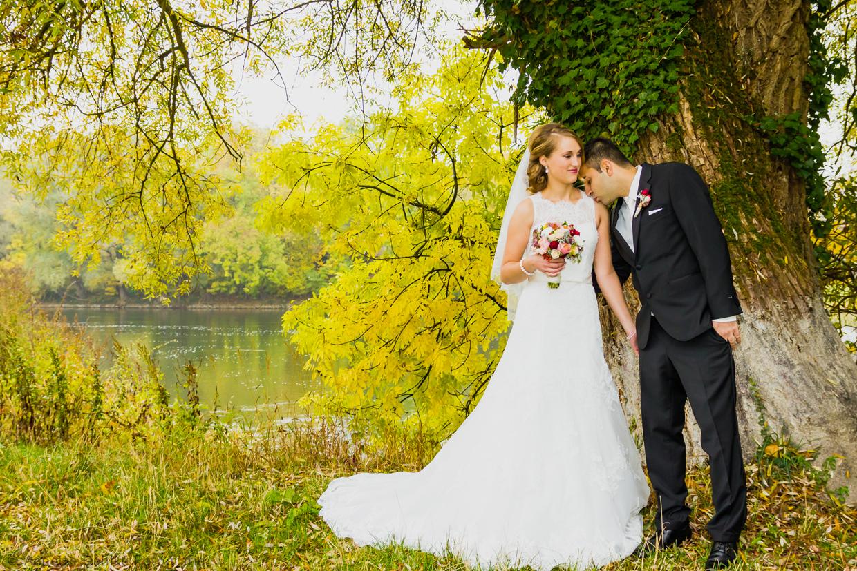 Hochzeitsshooting an der Donau in Neuburg