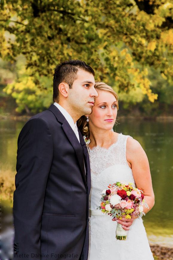 Hochzeitsshooting an der Donau